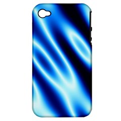 Grunge Blue White Pattern Background Apple Iphone 4/4s Hardshell Case (pc+silicone)