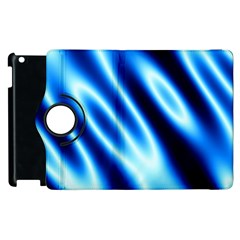 Grunge Blue White Pattern Background Apple iPad 3/4 Flip 360 Case