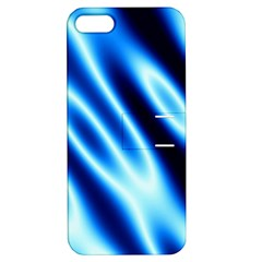 Grunge Blue White Pattern Background Apple iPhone 5 Hardshell Case with Stand