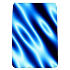 Grunge Blue White Pattern Background Flap Covers (L)