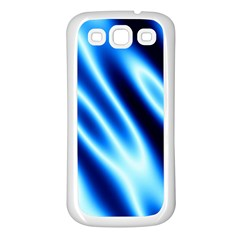 Grunge Blue White Pattern Background Samsung Galaxy S3 Back Case (White)