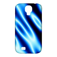 Grunge Blue White Pattern Background Samsung Galaxy S4 Classic Hardshell Case (PC+Silicone)