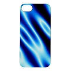 Grunge Blue White Pattern Background Apple iPhone 5S/ SE Hardshell Case
