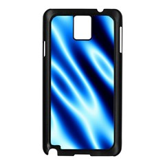 Grunge Blue White Pattern Background Samsung Galaxy Note 3 N9005 Case (Black)