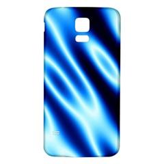 Grunge Blue White Pattern Background Samsung Galaxy S5 Back Case (White)