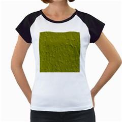Olive Bubble Wallpaper Background Women s Cap Sleeve T