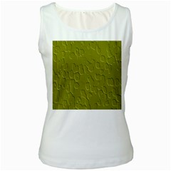 Olive Bubble Wallpaper Background Women s White Tank Top
