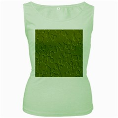Olive Bubble Wallpaper Background Women s Green Tank Top