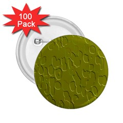Olive Bubble Wallpaper Background 2.25  Buttons (100 pack)