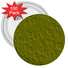 Olive Bubble Wallpaper Background 3  Buttons (100 pack)