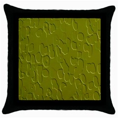 Olive Bubble Wallpaper Background Throw Pillow Case (Black)