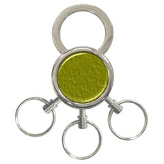 Olive Bubble Wallpaper Background 3 Ring Key Chains