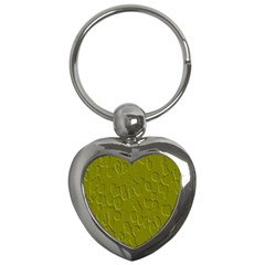 Olive Bubble Wallpaper Background Key Chains (Heart)