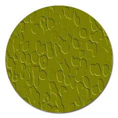 Olive Bubble Wallpaper Background Magnet 5  (Round)