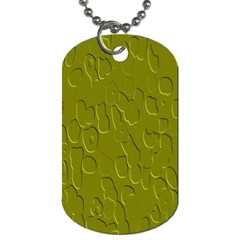 Olive Bubble Wallpaper Background Dog Tag (Two Sides)