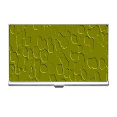 Olive Bubble Wallpaper Background Business Card Holders