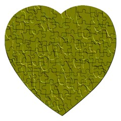 Olive Bubble Wallpaper Background Jigsaw Puzzle (Heart)