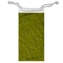 Olive Bubble Wallpaper Background Jewelry Bag