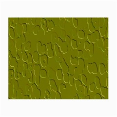 Olive Bubble Wallpaper Background Small Glasses Cloth (2 Side)