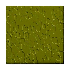 Olive Bubble Wallpaper Background Face Towel