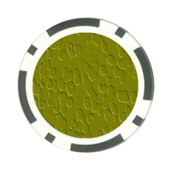 Olive Bubble Wallpaper Background Poker Chip Card Guard (10 Pack)