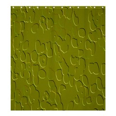 Olive Bubble Wallpaper Background Shower Curtain 66  X 72  (large)