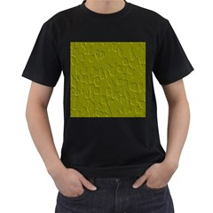 Olive Bubble Wallpaper Background Men s T Shirt (black)