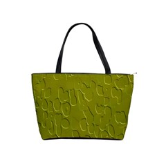 Olive Bubble Wallpaper Background Shoulder Handbags