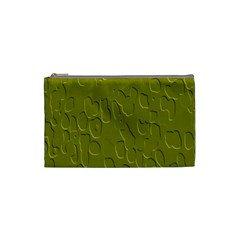 Olive Bubble Wallpaper Background Cosmetic Bag (small)
