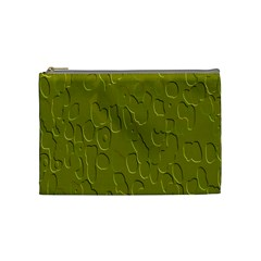 Olive Bubble Wallpaper Background Cosmetic Bag (Medium)