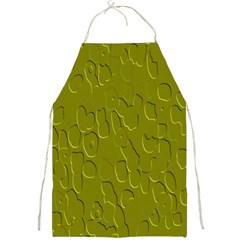 Olive Bubble Wallpaper Background Full Print Aprons