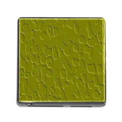Olive Bubble Wallpaper Background Memory Card Reader (square)