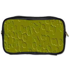 Olive Bubble Wallpaper Background Toiletries Bags 2-Side