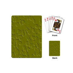 Olive Bubble Wallpaper Background Playing Cards (mini)