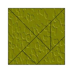 Olive Bubble Wallpaper Background Acrylic Tangram Puzzle (6  x 6 )