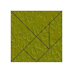 Olive Bubble Wallpaper Background Acrylic Tangram Puzzle (4  x 4 )