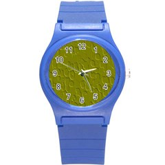 Olive Bubble Wallpaper Background Round Plastic Sport Watch (s)