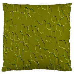 Olive Bubble Wallpaper Background Large Cushion Case (Two Sides)
