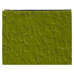 Olive Bubble Wallpaper Background Cosmetic Bag (XXXL)