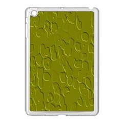 Olive Bubble Wallpaper Background Apple iPad Mini Case (White)
