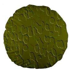 Olive Bubble Wallpaper Background Large 18  Premium Round Cushions