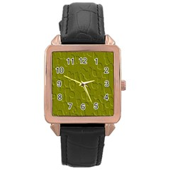 Olive Bubble Wallpaper Background Rose Gold Leather Watch