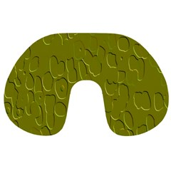 Olive Bubble Wallpaper Background Travel Neck Pillows