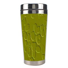 Olive Bubble Wallpaper Background Stainless Steel Travel Tumblers