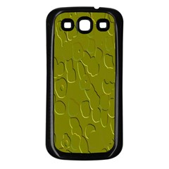 Olive Bubble Wallpaper Background Samsung Galaxy S3 Back Case (Black)