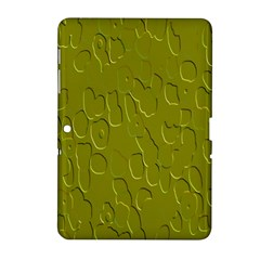 Olive Bubble Wallpaper Background Samsung Galaxy Tab 2 (10 1 ) P5100 Hardshell Case