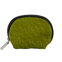 Olive Bubble Wallpaper Background Accessory Pouches (Small)