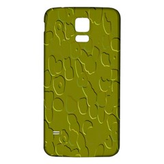 Olive Bubble Wallpaper Background Samsung Galaxy S5 Back Case (White)