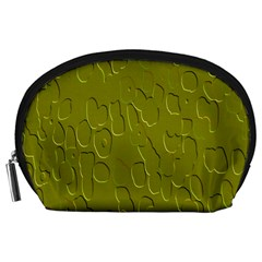 Olive Bubble Wallpaper Background Accessory Pouches (Large)