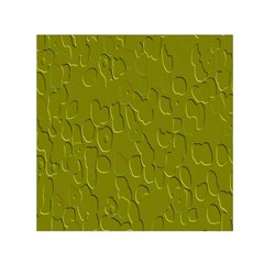 Olive Bubble Wallpaper Background Small Satin Scarf (Square)